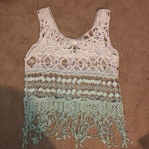 Tops - Sleeveless lace top